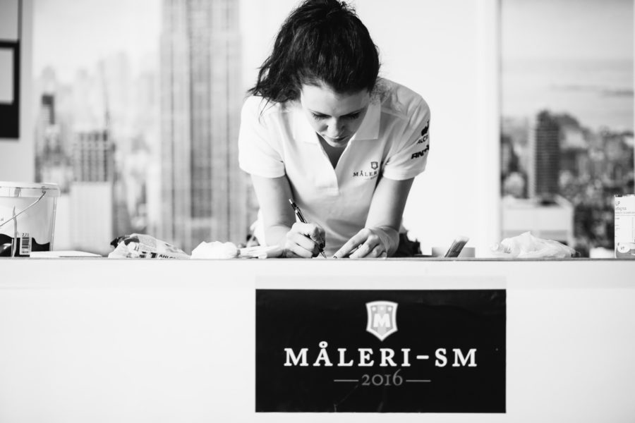 Praktiska Gymnasiet Måleri-SM 2016